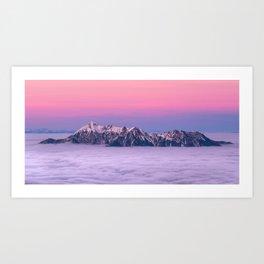 Beautiful Pink Mountains Art Print