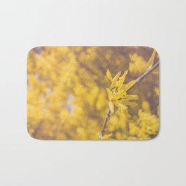 Yellow Flowers Bath Mat