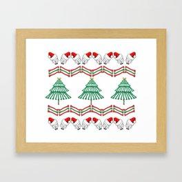 awesome skeletal ugly Christmas sweater Framed Art Print