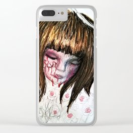 Scarred Child Halo Clear iPhone Case
