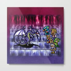Final Fantasy Bahamut Battle Metal Print