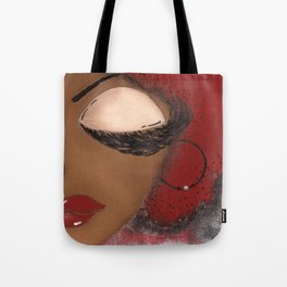 Crimson and Cream Sassy Girl Tote Bag