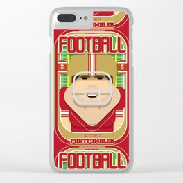 American Football Red and Gold - Enzone Puntfumbler - Bob version Clear iPhone Case