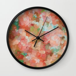 Dots Pastel Pattern Wall Clock