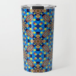 Beautiful Bright Beadwork Inspired Print Travel Mug