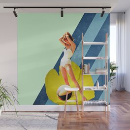 Summer Blossom Collage Wall Mural