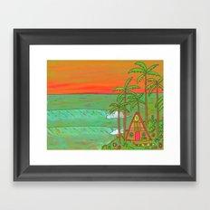 A Frame Dream Home Surf Paradise Framed Art Print