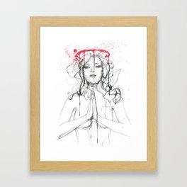 Saint or sinner Framed Art Print