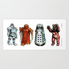Doctor Who – 1975 Set 02 Art Print