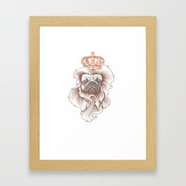 King Pug Framed Art Print