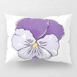 Purple Pansy Flower Pillow Sham