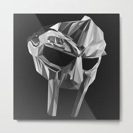 """DOOMSDAY"", MF DOOM MASK LOWPOLY Metal Print"