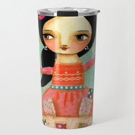 Tarot Card Reader mixed media painting by TASCHA Travel Mug