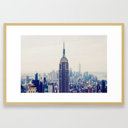 Empire State Building, New York, United States Framed Art Print