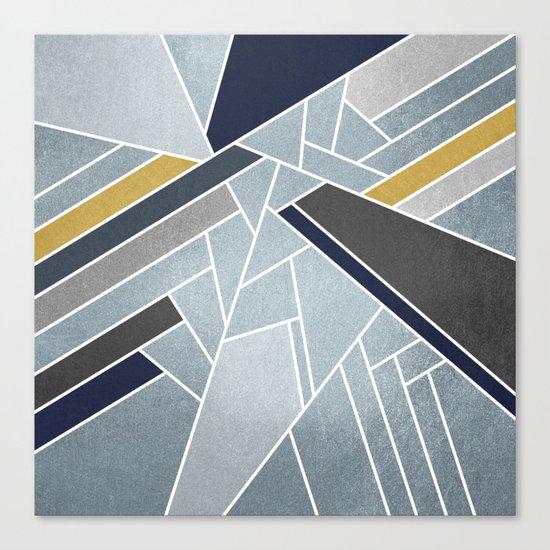 Soft Silver/Blue/Navy/Gold Canvas Print