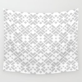 Abstract geometric pattern - gray and white. Wall Tapestry