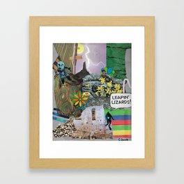 Leapin' Lizards! Framed Art Print