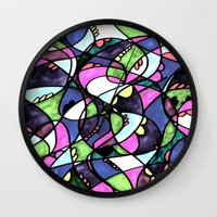 wonderland Wall Clocks featuring WONDERLAND by JESSIE WEITZ