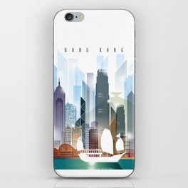 The city skyline of Hong Kong iPhone Skin