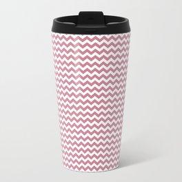 Chevron Rose Travel Mug