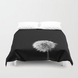 Black and White Dandelion Duvet Cover