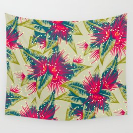 New Zealand Rata floral print (Day) Wall Tapestry