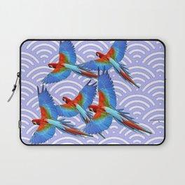 MODERN ART BLUE & RED TROPICAL MACAWS IN FLIGHT ART f Laptop Sleeve