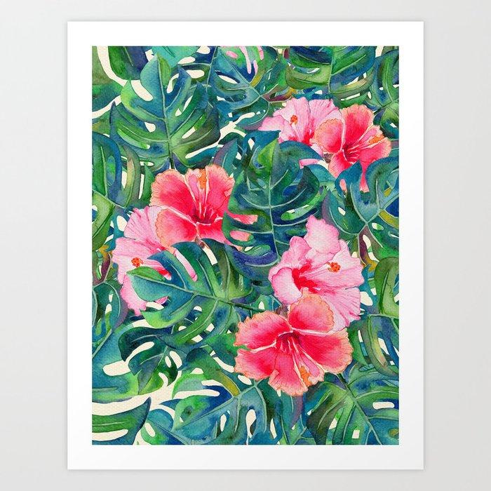 My Tropical Garden 23 Art Print by klaraacel