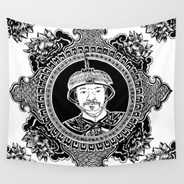 Qing dynasty inspired mandala Wall Tapestry