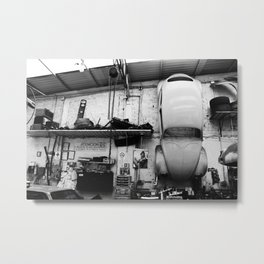 Car on the wall Metal Print
