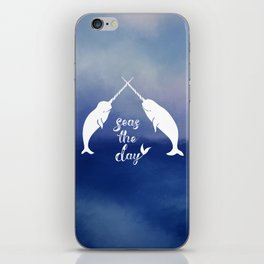 Narwhal Seas the Day iPhone Skin