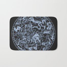 Ice on Black | Zodiac Skies & Astrological Ties Bath Mat