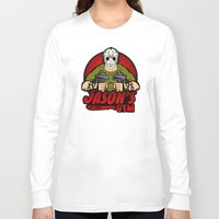 gym Long Sleeve T-shirts featuring Jacon's Gym by Buby87