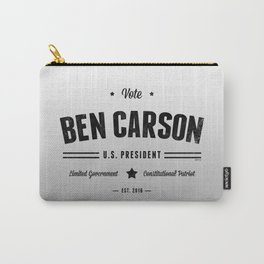 Vote Ben Carson 2016  Carry-All Pouch