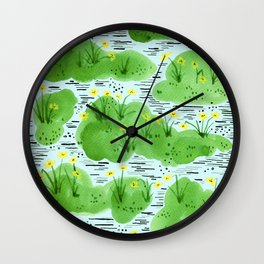 The simple happiness of the daffodils Wall Clock