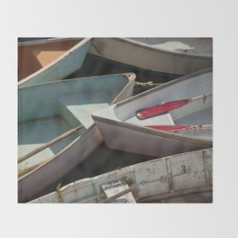 Schoodic Peninsula Boats Throw Blanket