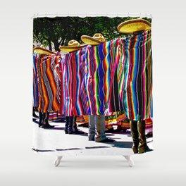 Dance of the Serape-clad Folklorico Dancers - Mesilla, N.M. Shower Curtain