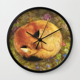 The Cozy Fox Wall Clock