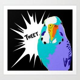 Tweet Keet Parakeet bird Art Print