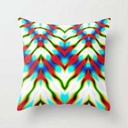 Hippie Rainbows | Colourful Hippie Love Throw Pillow