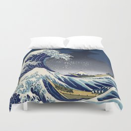 Great Wave: Kanagawa Night Duvet Cover
