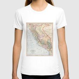 Vintage Map of Peru (1901) T-shirt