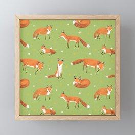 Red Foxes Framed Mini Art Print