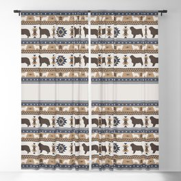 Boho dogs | Berner Sennenhund/Bernese mountain dog tan Blackout Curtain
