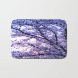 Periwinkle Lavender Flower Tree Bath Mat