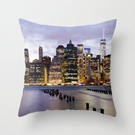 New York Nights #3 Throw Pillow