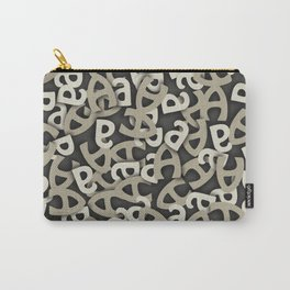 Letter A Gray Carry-All Pouch