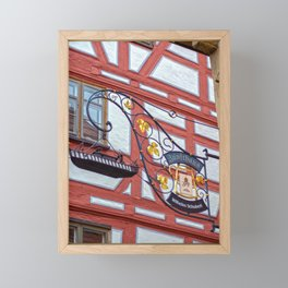 Zunfthaus Ulm Framed Mini Art Print