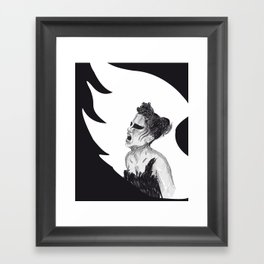 Black Swan III Framed Art Print