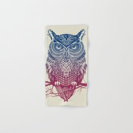 Evening Warrior Owl Hand & Bath Towel